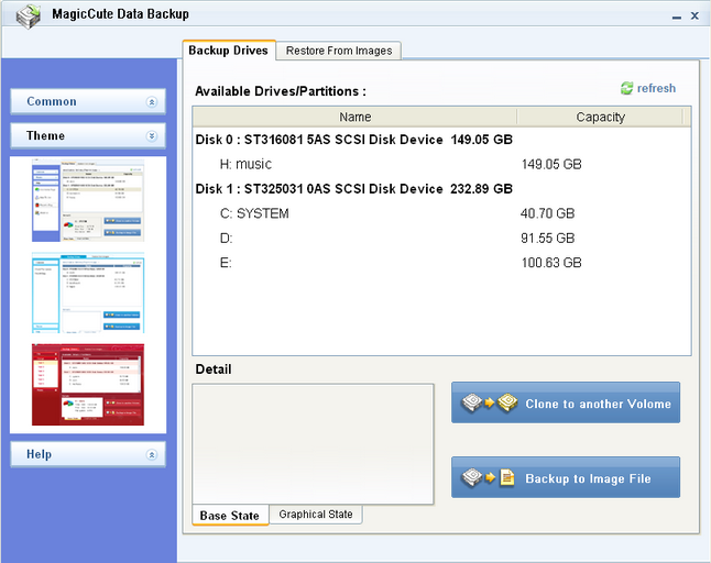 MagicCute Data Backup Screenshot