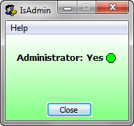 IsAdmin Screenshot