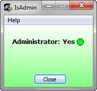 IsAdmin Screenshot 1