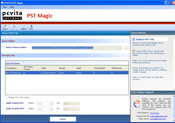 PCVITA PST Magic Screenshot