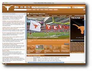 Texas Longhorns Firefox Theme Screenshot