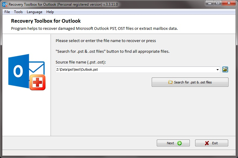 Recovery Toolbox for Outlook Screenshot 3