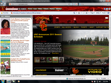 USC Trojans Firefox Browser Theme Screenshot