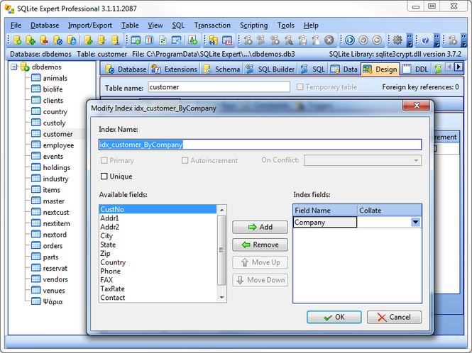 SQLite Expert Professional Screenshot 1