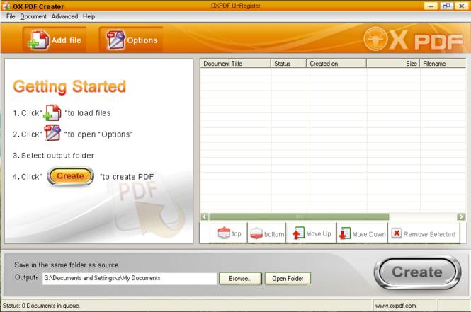 OX Word to PDF Converter Screenshot 1