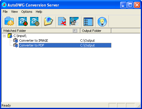 Smart DWG to PDF Conversion Server Screenshot
