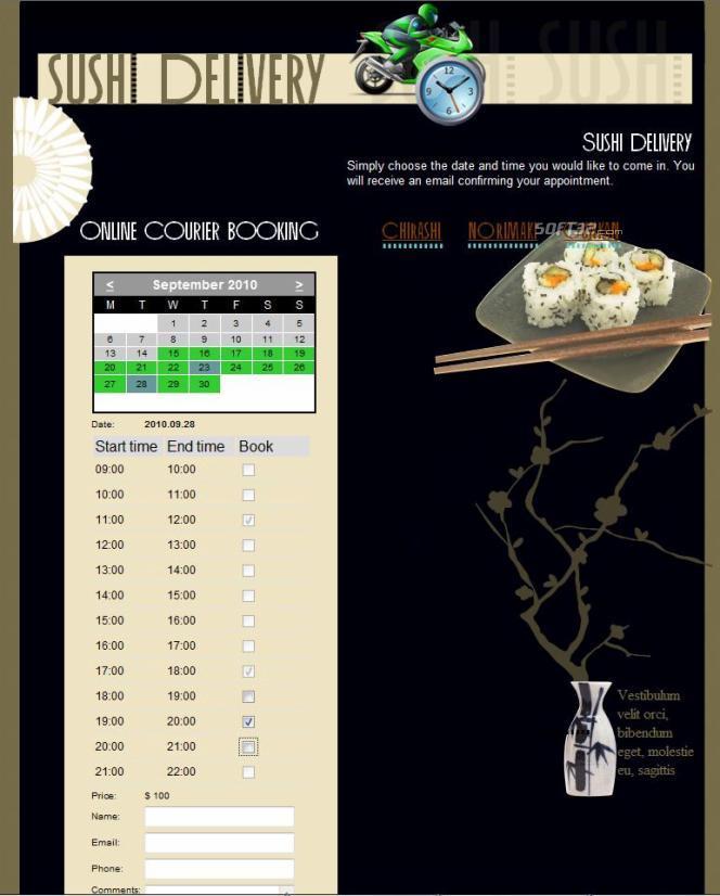 Online Courier Booking Screenshot 3
