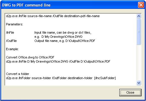 Smart DWG to PDF Server Version Screenshot