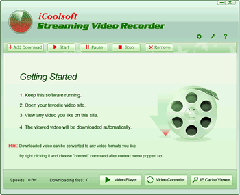iCoolsoft Streaming Video Recorder Screenshot