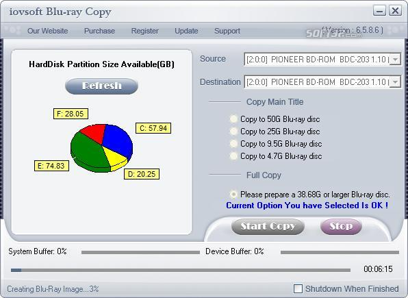 iovSoft Blu-ray Copy Screenshot 2