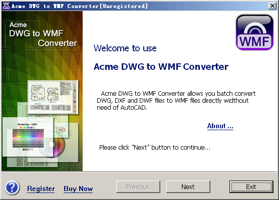 Acme DWG to WMF Converter 2010 Screenshot 2