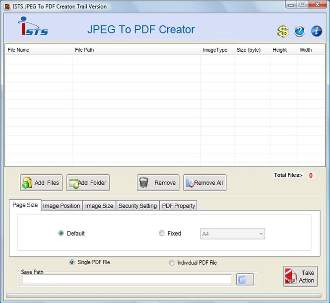 Convert a JPEG to PDF Screenshot