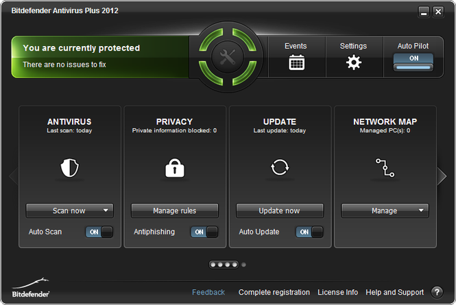 BitDefender Antivirus Pro Screenshot
