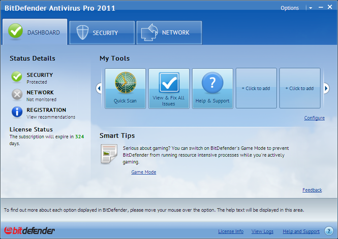 BitDefender Antivirus Pro Screenshot 2