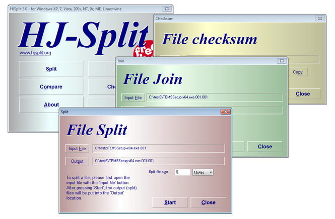 HJSplit Screenshot