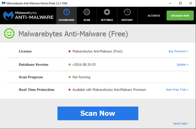 Malwarebytes Anti-Malware Screenshot 1