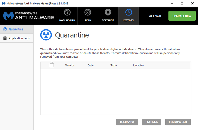 Malwarebytes Anti-Malware Screenshot 2