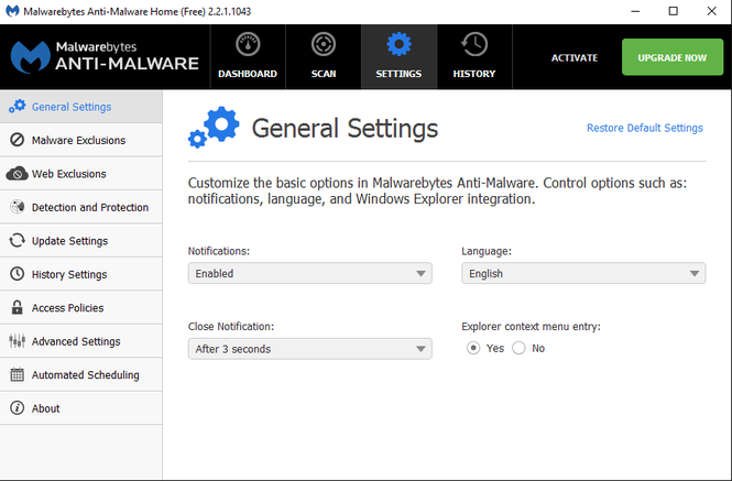 Malwarebytes Anti-Malware Screenshot 4