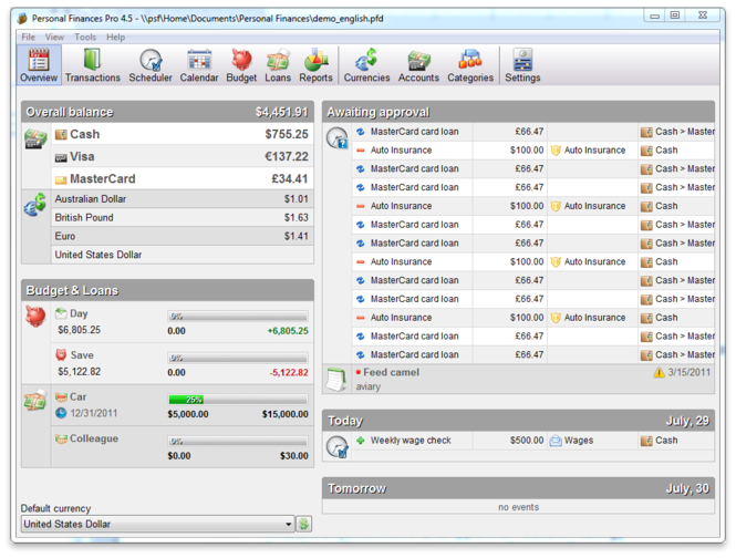 Personal Finances Screenshot 3