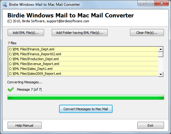 Transfer Windows Live Mail to Mac Mail Screenshot