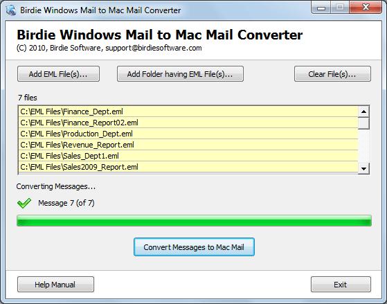 Transfer Windows Live Mail to Mac Mail Screenshot
