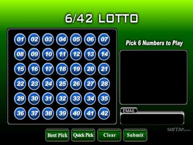 Lotto 6/42 Screenshot 3