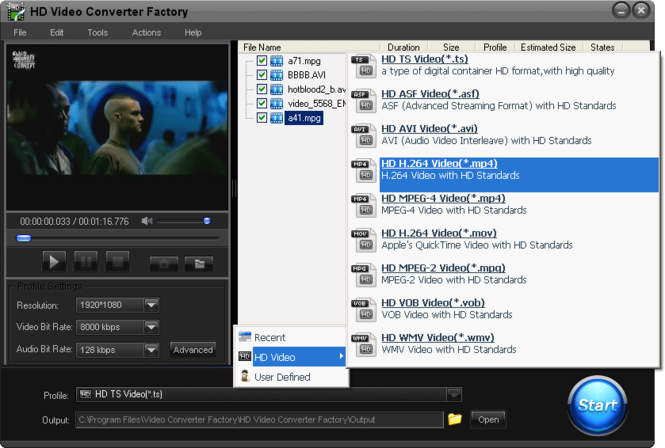 MP4 Video Converter Factory Pro Screenshot 1