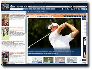 Auburn Tigers IE Browser Theme Screenshot 1