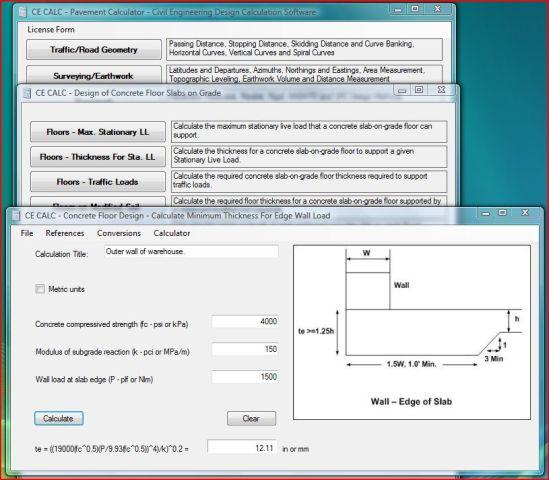 CE CALC - Pavement Calculator Screenshot 1