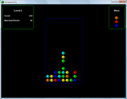 GLColumns a Tetris like game Screenshot