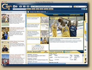 Georgia Tech Firefox Browser Theme Screenshot 1