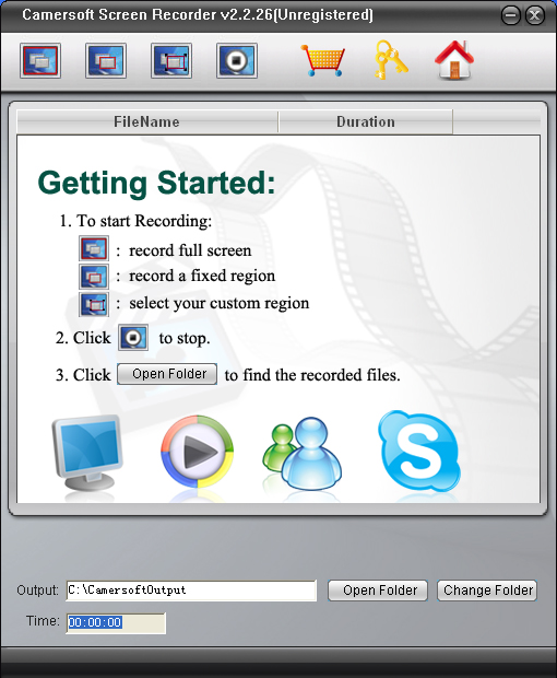 Camersoft Screen Recorder Screenshot