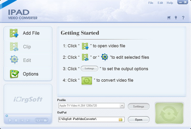 iOrgsoft iPad Video Converter Screenshot