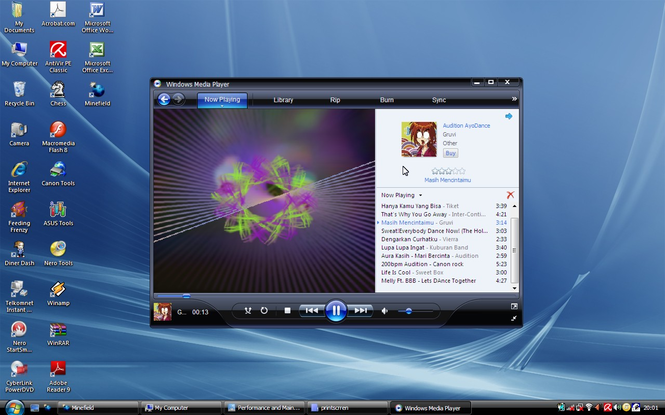 Windows Media Player Screenshot 2