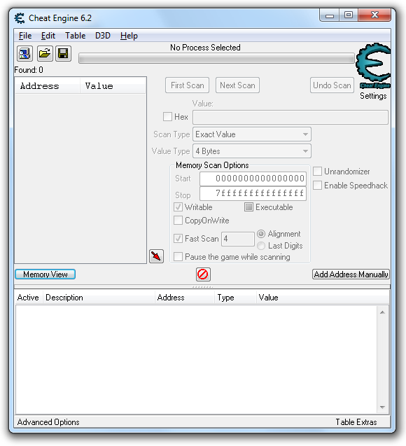 Cheat Engine Screenshot