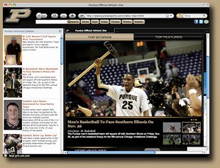 Purdue Firefox Browser Theme Screenshot