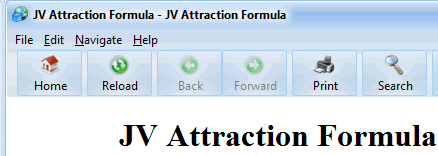 JV Attraction Formula Screenshot