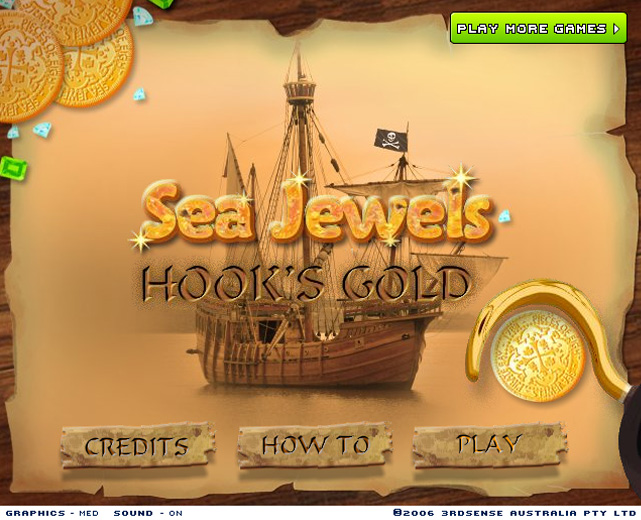 Sea Jewels Hook's Gold Screenshot 1