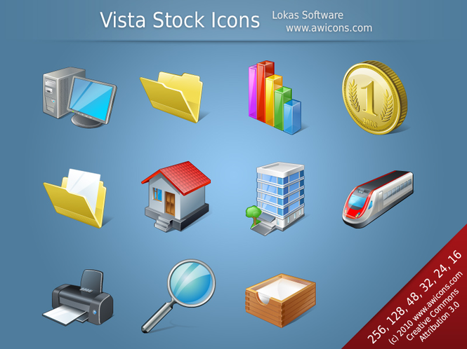 Vista Stock Icons Screenshot 1