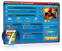 BlazeVideo DVD to 3GP Converter Screenshot