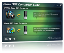 BlazeVideo 3GP Converter Suite Screenshot 1
