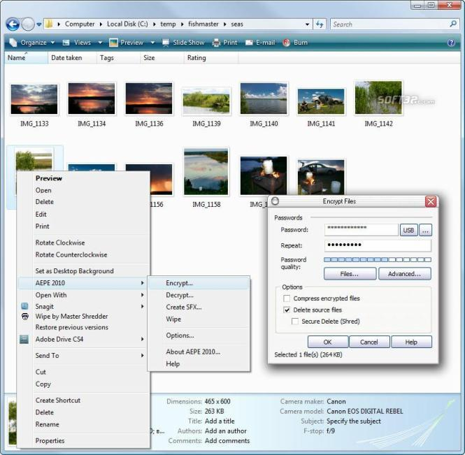 Advanced Encryption Plugin for Explorer Screenshot 2