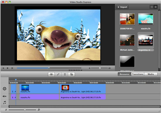 Aimersoft Video Studio Express for Mac Screenshot