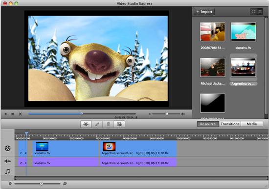 Aimersoft Video Studio Express for Mac Screenshot 1