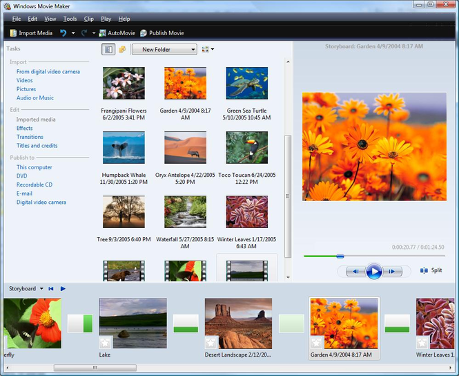 Windows Live Movie Maker Screenshot 2