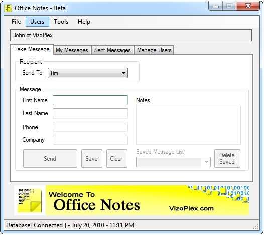 Office Notes Screenshot 1