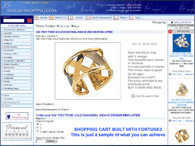 Shopping Cart Software, Online Ecommerce Screenshot