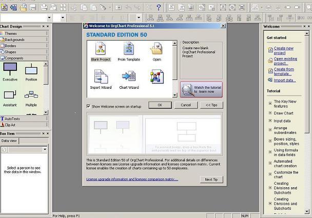 OrgChart Standard Screenshot 1