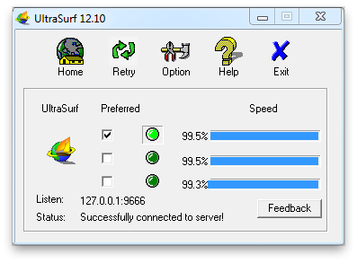 Ultrasurf Screenshot 1