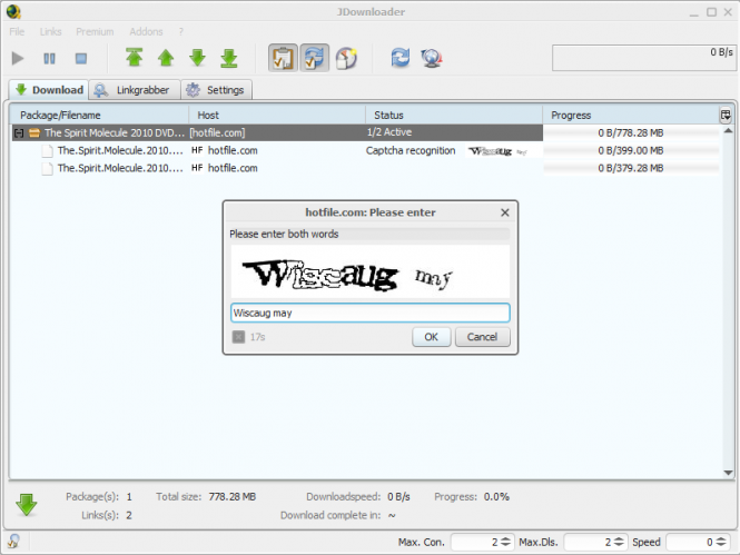 jDownloader Screenshot 2